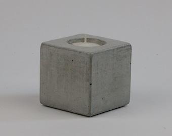 No.14 Cube Concrete Tea Light Candle Holder