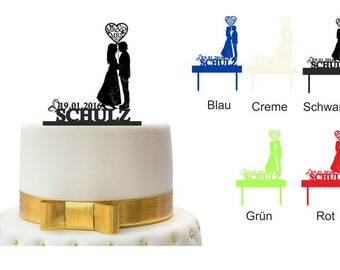 Personalized Cake Topper cake plug cake wedding cake design 2