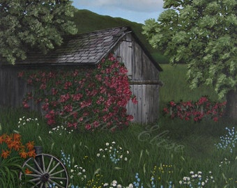 Title: Overtaken By the Colors Of Summer, Fine Art Oil Painting, One-of-a-Kind Wall Art