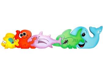 Puzzle Marine Animal in MDF-educational