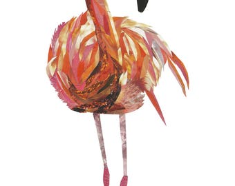 Flamingo print (A4)