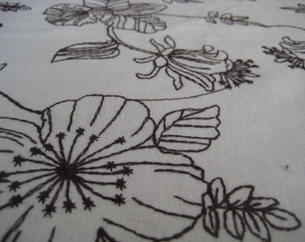 LINEN - Embroidered Woodblock