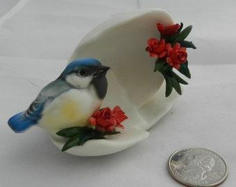 Vintage Capo di Monte Blue Bird