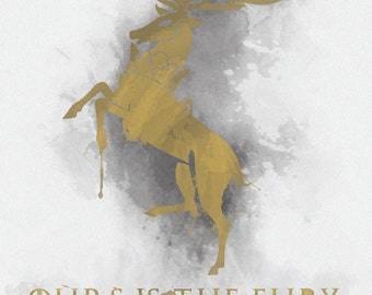 GOT Inspired House Baratheon Print