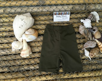3-6 months chocolate brown spandex shorts , pants, kids clothes, baby items, toddlers clothes, childrens shorts, fun