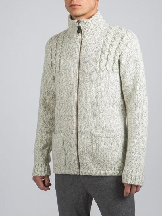 Favorito Maglione di lana uomo Fatto a mano Cardigan uomo XO07
