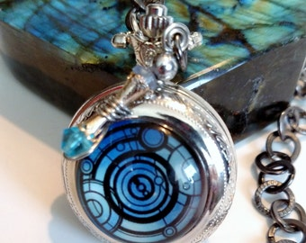 Doctor Who Blues Gallifreyan Pocket Watch
