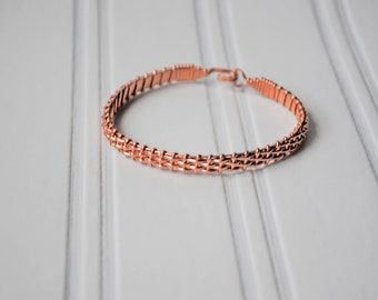 Rose Gold Half Basket Weave