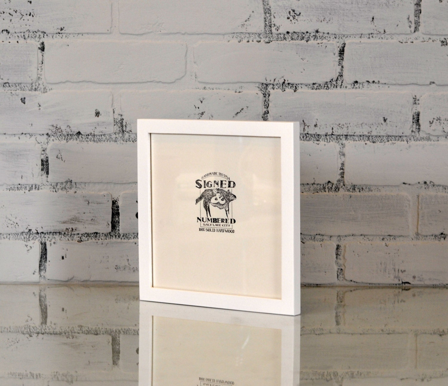 8x8 Picture Frame in PeeWee Style with Solid White Finish - Can Be ...