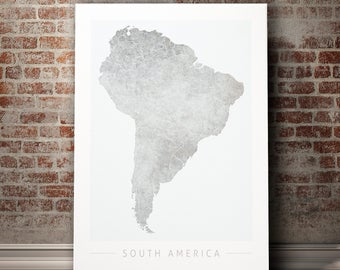 South America Map - Continental Map of South America - Art Print Watercolor Illustration Wall Art Home Decor Gift - Colour Series PRINT