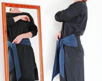 Black Cotton Dress Plus Size Dress Black Maxi Dress Minimalist Dress Organic Cotton Dress Cotton Black Dress Oversized Dress Kimono Dress