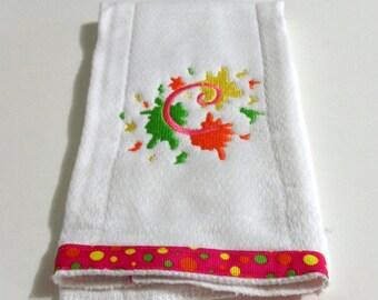 Embroidery Burp Cloth Splash Alphabet Font Cloth Diaper