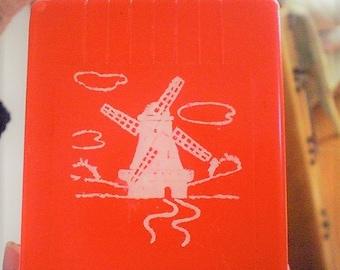 Mavco Red Dutch Windmill Match Box Holder