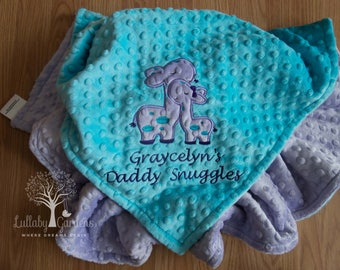 Giraffe Personalized Minky Baby Blanket, Personalized Minky Baby Blanket, Giraffe Appliqued Blanket, Custom Baby Blanket