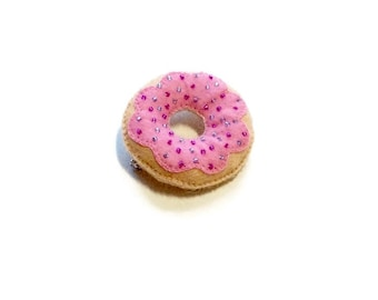 Donut Brooch - Donut Pin - Kawaii Fairy Kei Pin - Cute Junk Food - Doughnut Brooch - Donut Jewelry