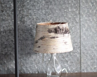 Birch lamp etsy birch bark table lamp mozeypictures Gallery