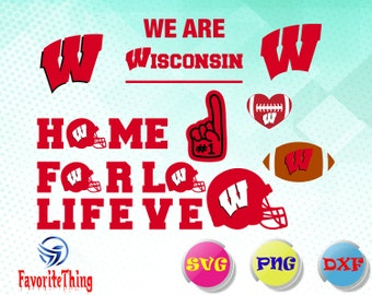 Wisconsin Badgers svg,dxf,png Cutfiles/Wisconsin Badgers vectors for Cricut, Silhouette,clip art...etc