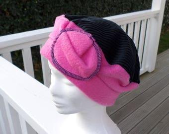 Fleece beret hat and corduroy child comfortable unique winter Hat