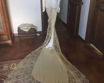 Stunning 1930s Wedding Gown Overcoat