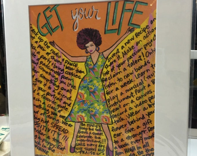 AFFIRMATION PRINT: Get Your Life 8x10