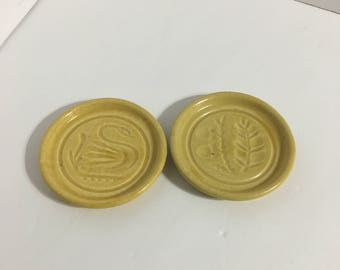 Vintage Pigeon Forge Pottery Butter Molds