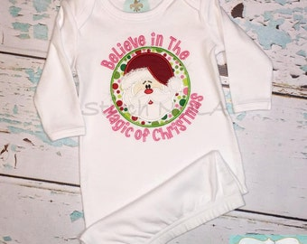 Santa-Believe in the Magic of Christmas T-Shirt or Bodysuit/Gown