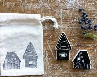 "Rubber Stamps ""Mountain houses""-Conf. 2 pcs."
