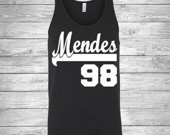 Shawn Mendes 98 Jersey Tank Unisex Ladies V-Neck Tank Long Sleeve Trending Shawn Mendes Crush Shawn Mendes Bae Pop Singer Boycrush