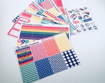 Rainbow Sticker Kit - Weekly Sticker Kit - Planner Stickers - Agenda Stickers