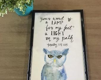 Scripture Art - Owl