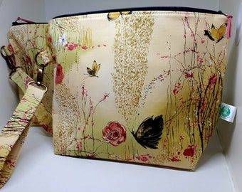 Butterfly with Gold Flecks Large Project Bag