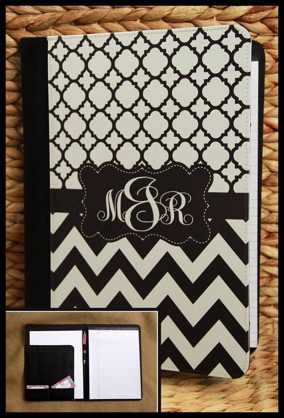 Personalized Pad-folio Gift for Coworker Business Portfolio Employee Gift Teacher Gifts Custom Portfolio Monogrammed Gift Office Notepad