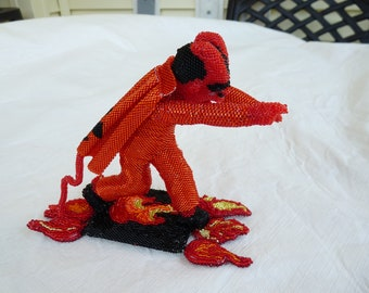 Little Devil Art Figurine Beaded Collectible Free Shipping