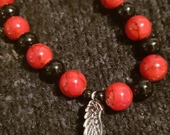 Red Angel Art by JESSICA...Bracelet