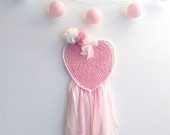 Attrappe-rêves fait-main, dreamcatcher,déco tricotin, décoration murale, déco fêtes des mères, MODELE UNIQUE