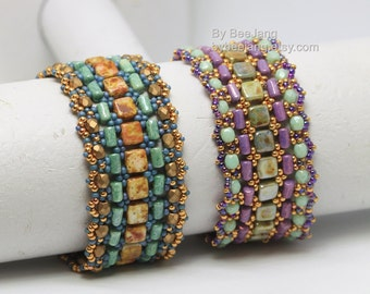 PDF Tutorial - Shera Bracelet Beading Pattern Beadweaving Instruction Instant Download