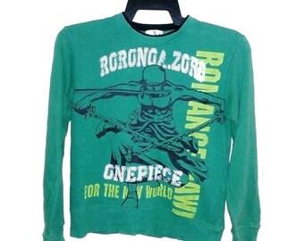 FREE SHIPPING Vintage one piece Zorro anime sweatshirt