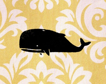 Whale Stamp: Wood Mounted Rubber Stamp