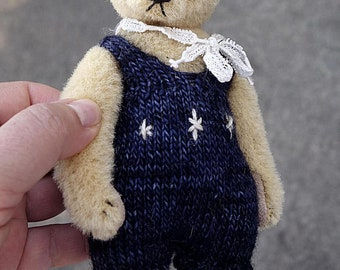 Eunice, Miniature Alpaca Artist Teddy Bear from Aerlinn Bears