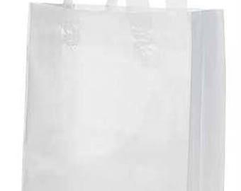 25-Medium Clear Frosty Shopper 8x5x10
