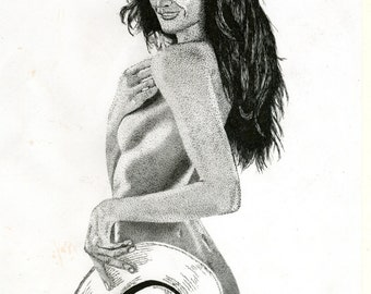 Art Print - Pen & Ink Drawing, A4 - I'm Sure I Forgot Someting ...