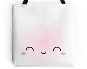 """Dimsum Tote - """"Jumbo Shrimp Dumpling"""" [Canvas Tote, Cute Tote, Cute Bag, Kawaii Tote Bag, Gift for Her, Girlfriend Gift, Food Tote, Dimsum]"""