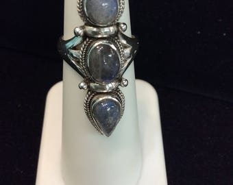 Labradorite Sterling Silver Ring size 5