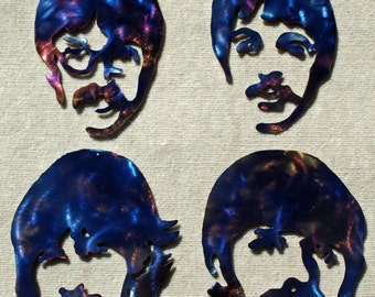 The Beatles Metal Art