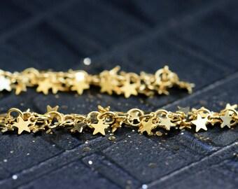 Stars earrings, Gold stars earrings, Stars dangle earrings, Gold stars drop earrings, Long earrings, Gold long earrings, Valentines day gift
