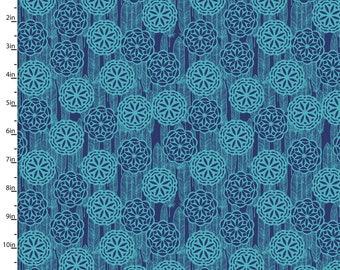 Tissu de Dreamcatcher bleu marine et Turquoise, au sud-ouest de couette tissu, 3 souhaits Pachua 12941 bleu marine, Turquoise, sud-ouest de tissu, coton imprimé