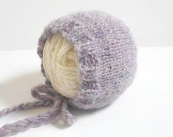 Purple Haze Newborn Bonnet/Knit Bonnet/Newborn Baby Bonnet//New Baby Bonnet/Newborn Photo Prop/Knit Newborn Bonnet/Newborn Knits