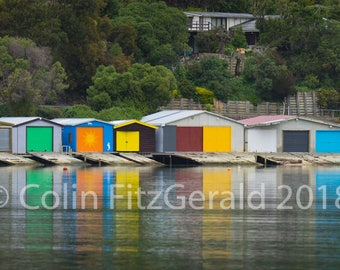Rainbow of Boathouses