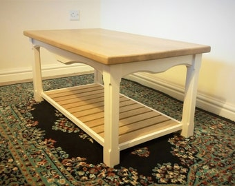 Oak top and Painted coffee table