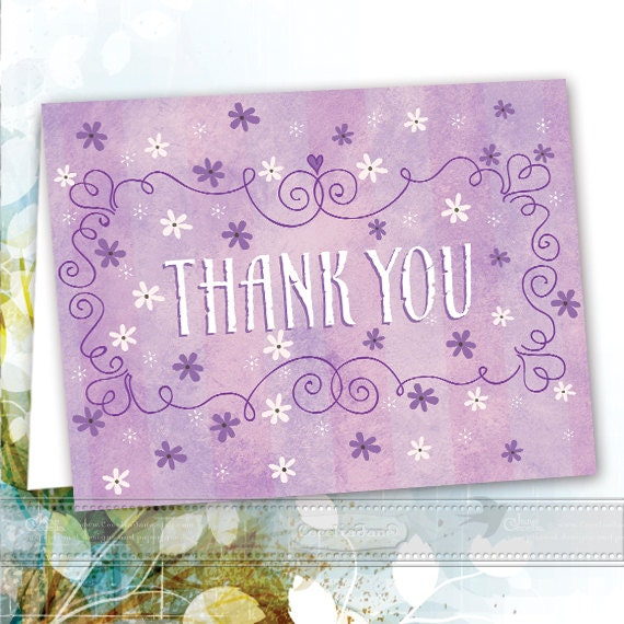 thank you cards, printable thank you cards, instant download lavender thank you cards, instant download, editable thank you cards, ID119